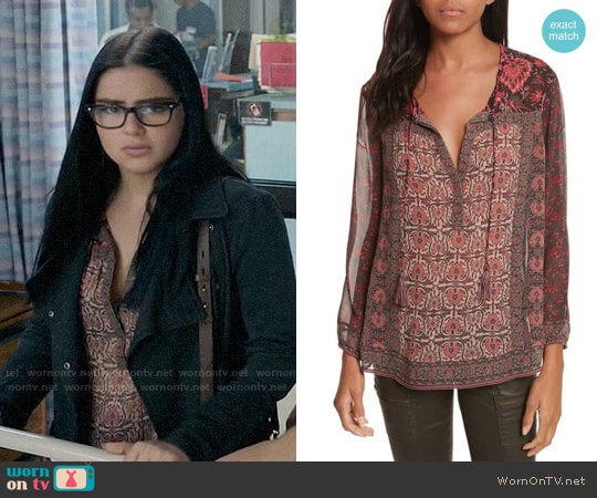 Joie Katja Top worn by Alex Dunphy (Ariel Winter) on Modern Family