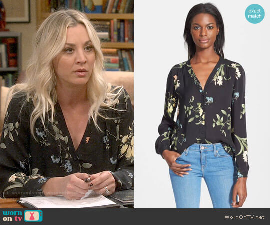 Joie Yvetta Top worn by Kaley Cuoco on The Big Bang Theory