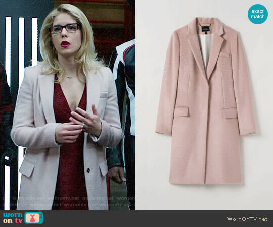 Judith & Charles Huston Coat worn by Felicity Smoak (Emily Bett Rickards) on Arrow