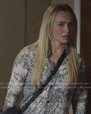 Juliette's floral button down shirt on Nashville