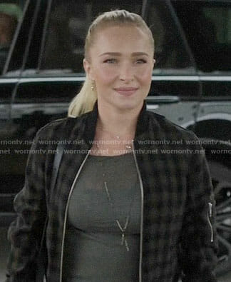 Juliette's checked bomber jacket on Nashville