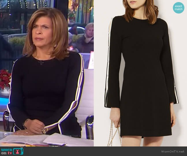 Cut-Out Knitted A-Line Dress by Karen Millen worn by Hoda Kotb  on Today
