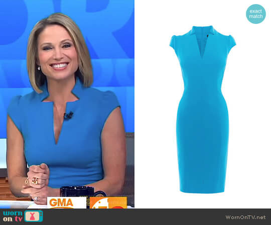 Tailored Pencil Dress by Karen Millen worn by Amy Robach on Good Morning America