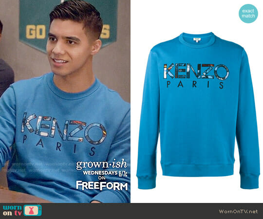 Kenzo Logo Sweatshirt worn by Jordan Buhat on Grown-ish