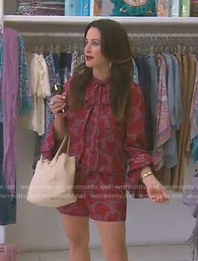 Kyle's red floral romper on The Real Housewives of Beverly Hills