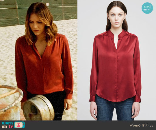 L'Agence Bianca Blouse worn by Katharine McPhee on Scorpion