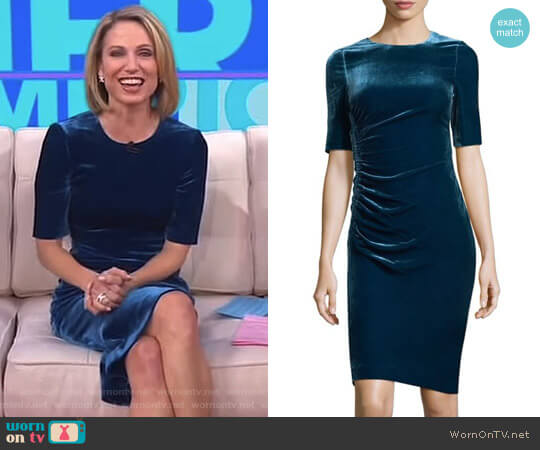 'Kara' Dress by LK Bennett worn by Amy Robach  on Good Morning America