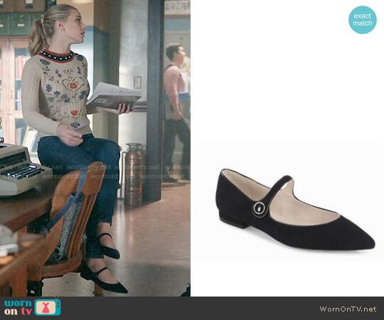 LK Bennett Mary Jane Flats worn by Betty Cooper (Lili Reinhart) on Riverdale