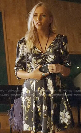 Maddie's mesh metallic polka dot dress on Nashville