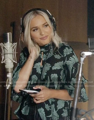 Maddie's leaf print top on Nashville