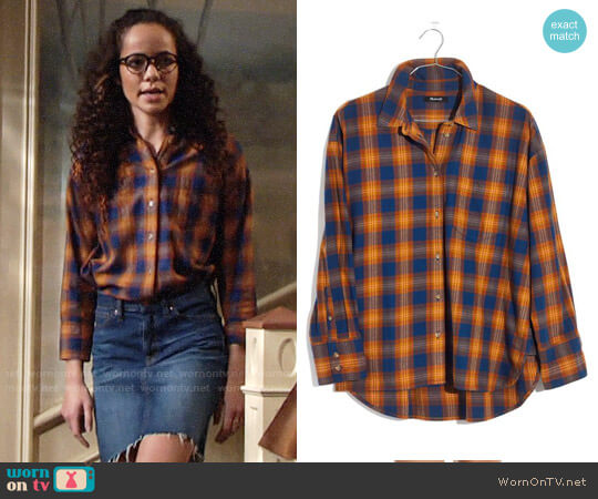 Madewell Westward Ardan Plaid Shirt worn by Lexie Stevenson on The Young & the Restless