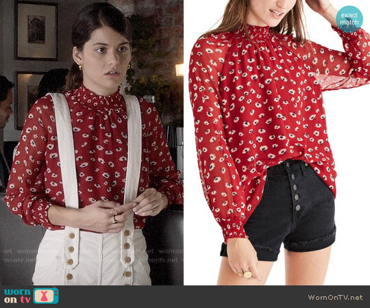 Madewell Mistlight Mock Neck Top worn by Sofia Black D'Elia on The Mick