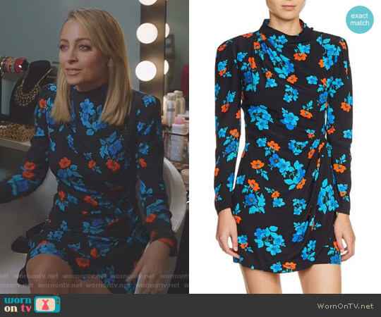 Floral Faux Wrap Dress by Maje worn by Portia Scott-Griffith (Nicole Richie) on Great News