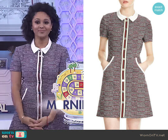 'Renatelle' Dress by Maje worn by Tamera Mowry on The Real