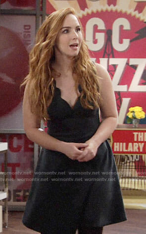 Mariah's scalloped trim dress on The Young and the Restless