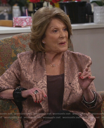 Judy's pink paisley  jacket on 9JKL