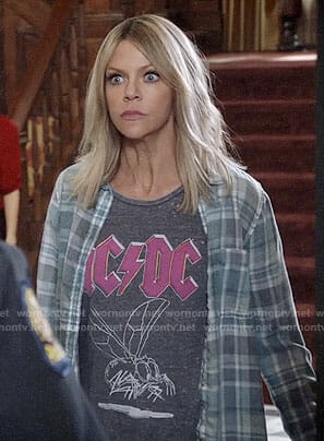 Mickey's AC/DC tee on The Mick