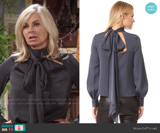 Milly Simona Top worn by Eileen Davidson on The Young & the Restless