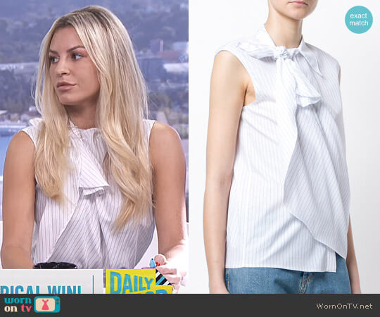 Layered Stripe Sleeveless Shirt by MM6 Maison Margiela worn by Morgan Stewart  on E! News