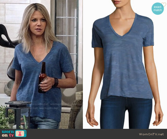 Monrow Oversized Camouflage Top worn by Kaitlin Olson on The Mick