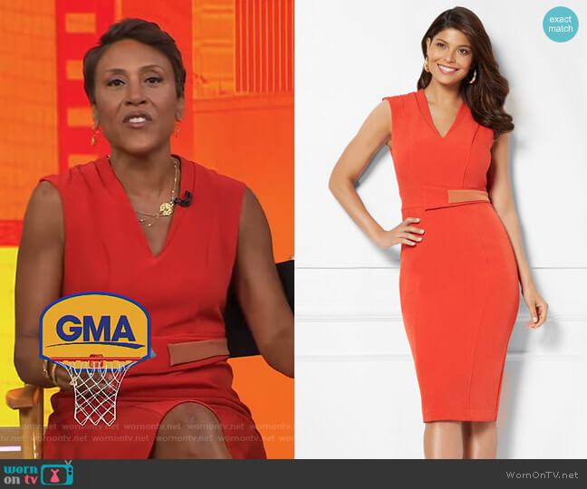 'Leandra' Dress - Eva Mendes Collection by New York & Company worn by Robin Roberts on Good Morning America