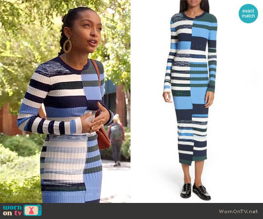 Space Dye Maxi Dress by Opening Ceremony worn by Zoey Johnson (Yara Shahidi) on Grown-ish