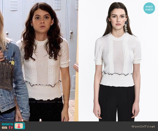 3.1 Phillip Lim Cable Knit Top worn by Sabrina Pemberton (Sofia Black D'Elia) on The Mick