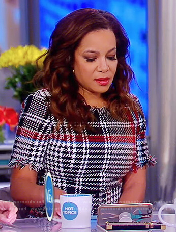 Sunny's plaid tweed dress on The View
