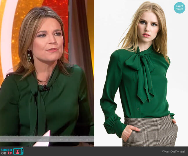 'Maryna' Side Placket Blouse by Rachel Zoe worn by Savannah Guthrie  on Today