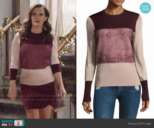 Rag & Bone Marissa Sweater worn by Melissa Claire Egan on The Young & the Restless