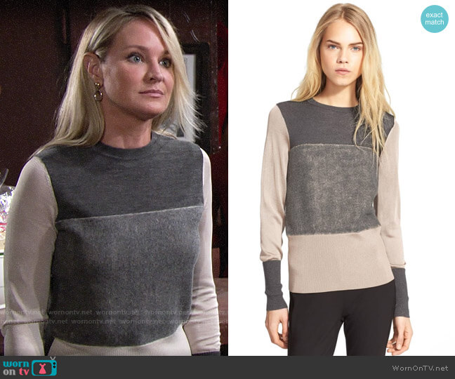 Rag & Bone Marissa Sweater worn by Sharon Collins (Sharon Case) on The Young & the Restless