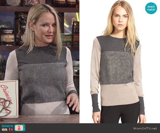 Rag & Bone Marissa Sweater worn by Sharon Case on The Young & the Restless