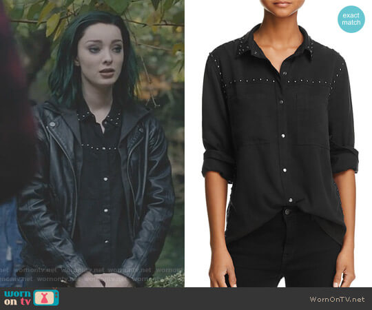 Beau Studded Shirt by Rails worn by Lorna Dane (Emma Dumont) on The Gifted