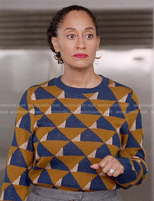 Rainbow's triangle print sweater on Black-ish