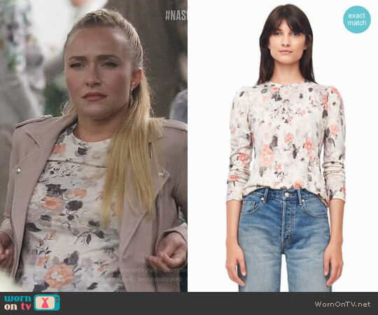 Rebecca Taylor Lua Floral Print Jersey Tee worn by Hayden Panettiere on Nashville
