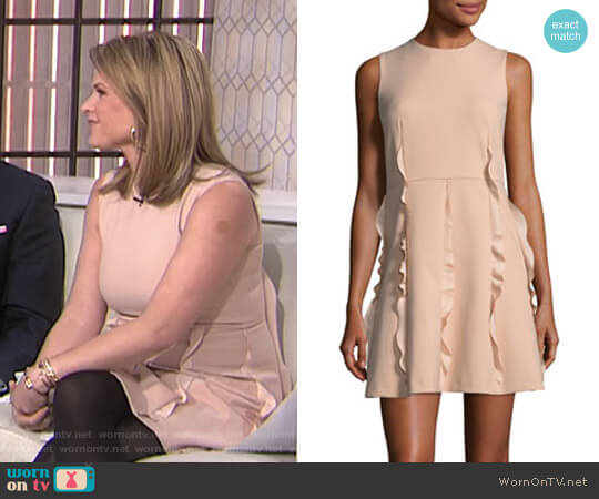 Ruffle Skirt Crepe de Chine Dress by RED Valentino worn by Jenna Bush Hager on Today