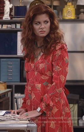 Grace's floral print dress on Will and Grace