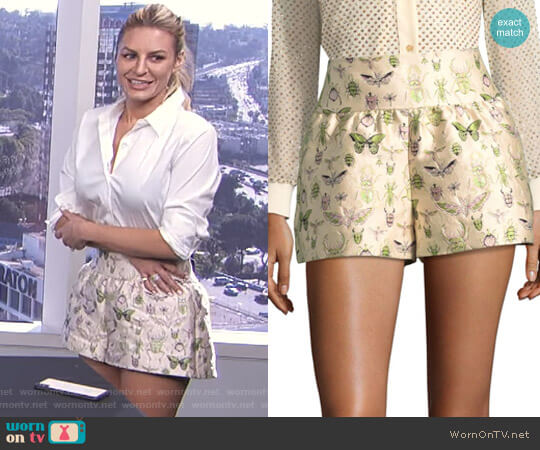 Insect Shorts by RED Valentino worn by Morgan Stewart  on E! News