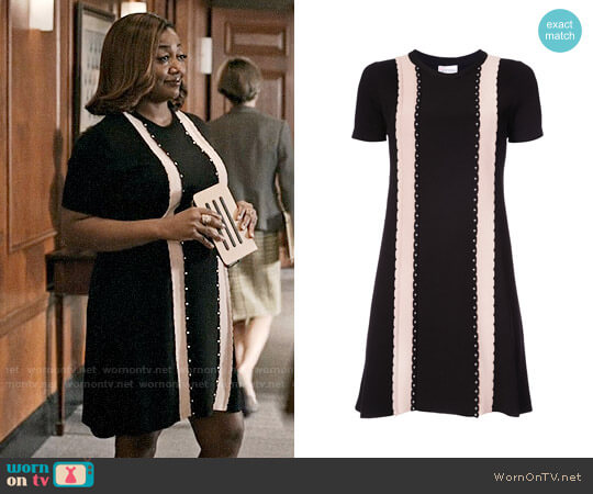 RED Valentino Studded Detail T-shirt Dress worn by Daisy Grant (Patina Miller) on Madam Secretary
