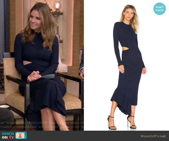 'Charlize' Dress by Ronny Kobo worn by Maria Menounos on Live with Kelly & Ryan