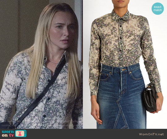 Saint Laurent Floral Print Cotton Shirt worn by Hayden Panettiere on Nashville