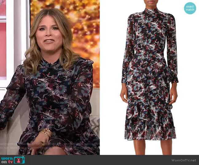 'Isa' Dress by Saloni worn by Jenna Bush Hager  on Today