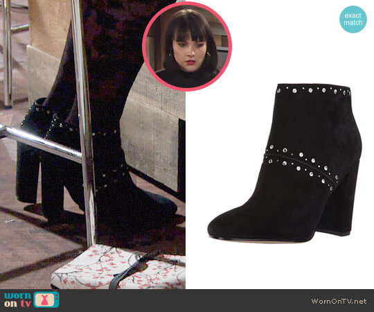 Sam Edelman Chandler Ankle Boots worn by Tessa Porter (Cait Fairbanks) on The Young & the Restless