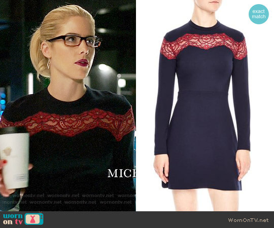 Sandro Jaisy Dress worn by Emily Bett Rickards on Arrow
