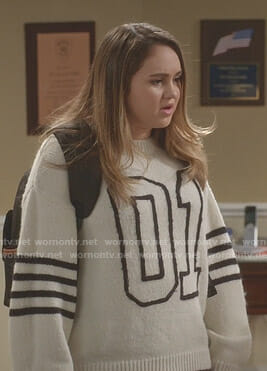 Sara's white 01 sweater on Kevin Can Wait