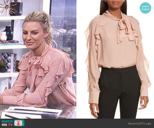 Ruffle Blouse by See by Chloe worn by Morgan Stewart  on E! News