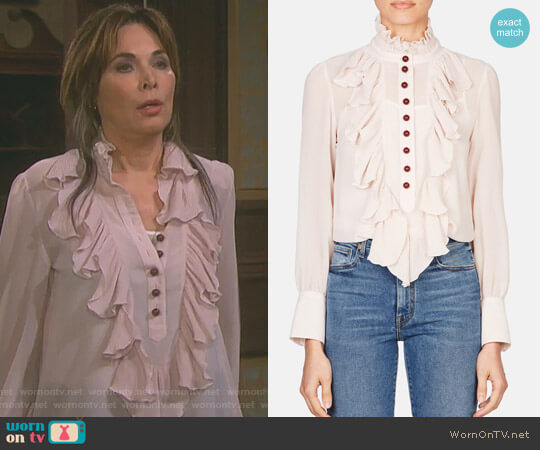 Victorian Button Blouse by See by Chloe worn by Lauren Koslow on Days of our Lives