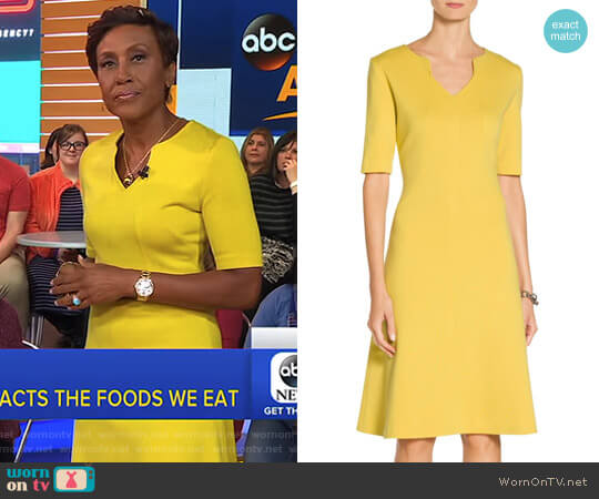 'Milano' Knit A-Line Dress by St John worn by Robin Roberts on Good Morning America