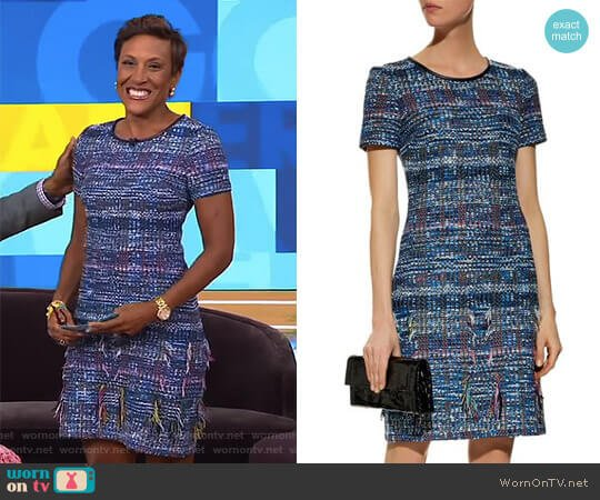 Tweed Shift Dress by St. John worn by Robin Roberts  on Good Morning America
