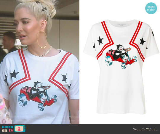 Printed T-Shirt by Stella McCartney worn by Erika Girardi  on The Real Housewives of Beverly Hills